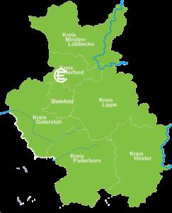 Karte Enger
