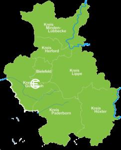 Karte Gütersloh