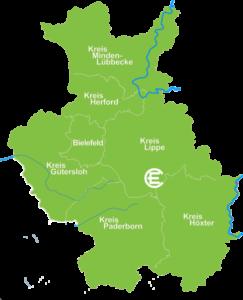 Karte Horn-Bad Meinberg
