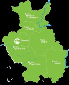 Karte Steinhagen